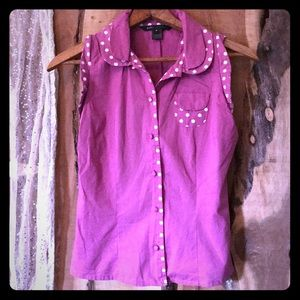 Marc Jacobs DUSTY ROSE polka dot top 6